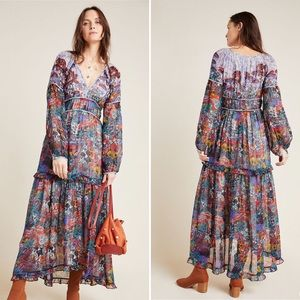 Anthropologie Maeve Annabella Maxi Dress Size 4
